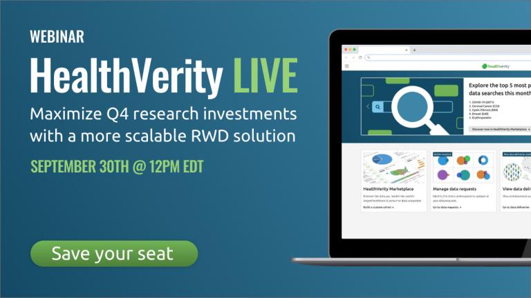 HealthVerity LIVE Interactive Demo