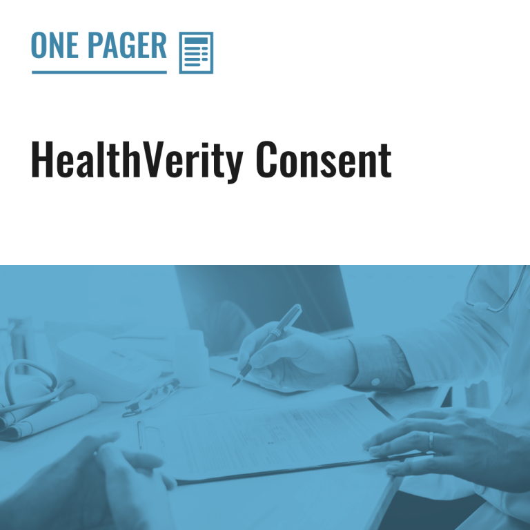 HealthVerity Consent
