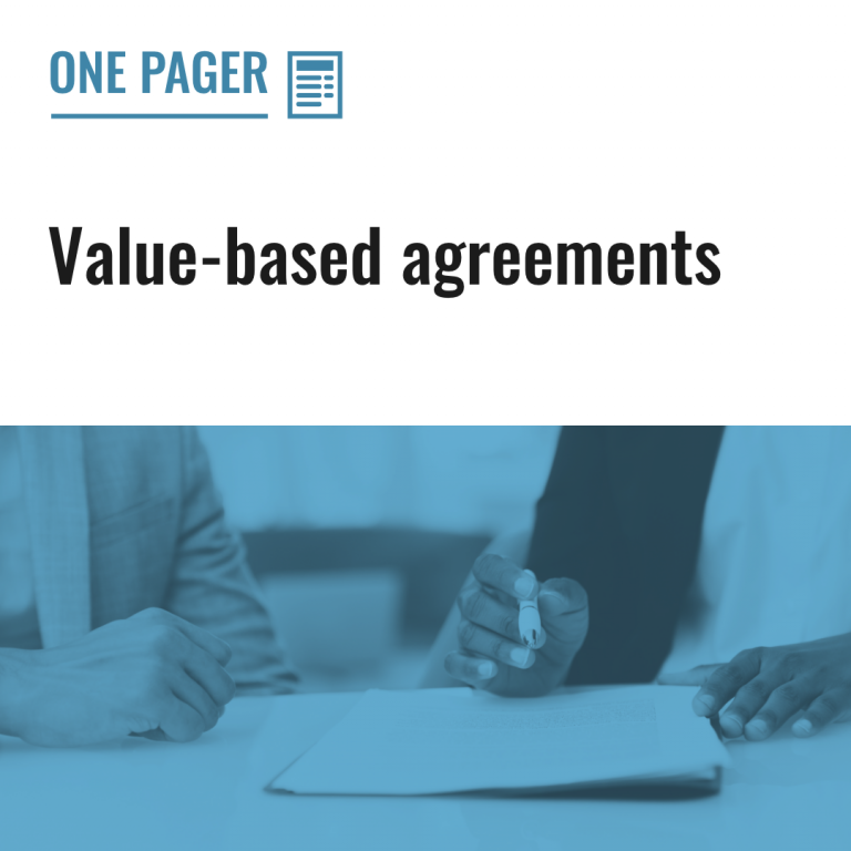 Value-based agreements