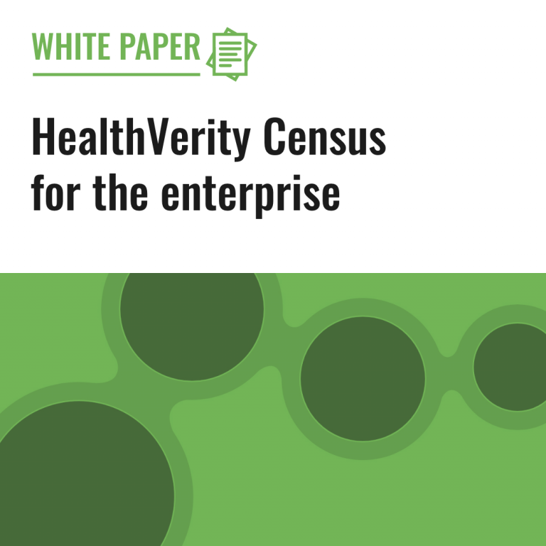 HealthVerity Census for the enterprise